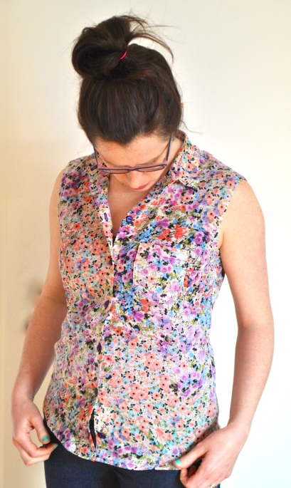 Floral Blouse by knitahedron.com