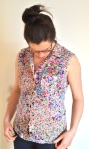 Floral Blouse by knitahedron