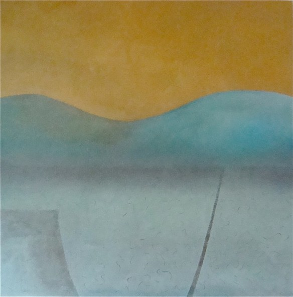 'Gold and Turquoise Landscape,'oil on canvas © Catherine Ryan