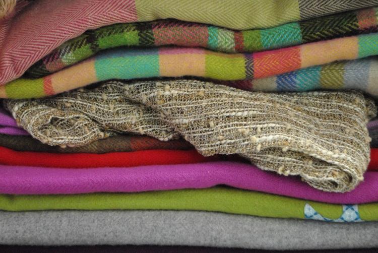 Blankets at Avoca Handweavers by knitahedron