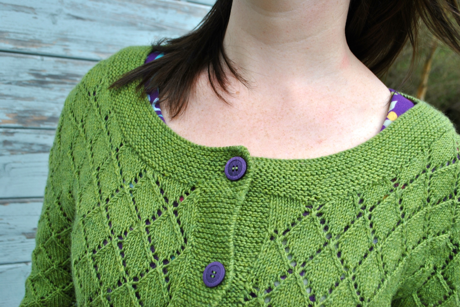 Grassy Cardi by knitahedron